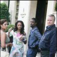 Chris Rock et sa femme à Paris, le 13 juin 2005