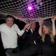 Exclusif - Jean Marie Bigard et sa femme Lola, Tony Gomes ( Ambassadeur du Fouquet's) passent une soirée au restaurant le Fouquet's et au Queen à Paris Le 26 décembre 2014.