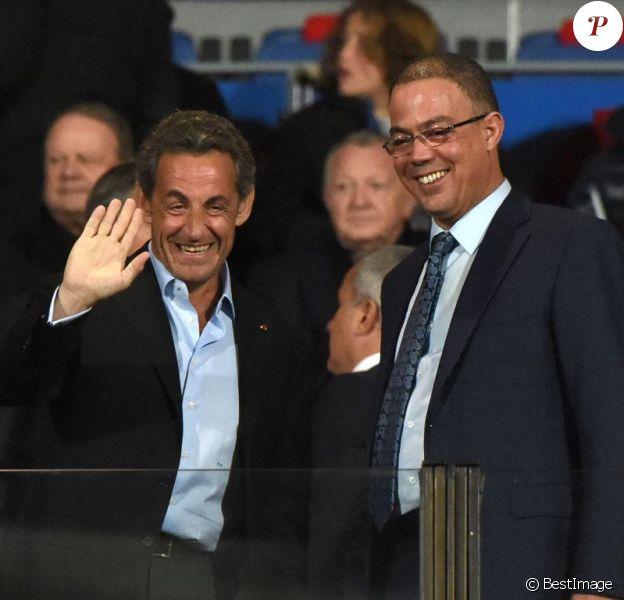 Nicolas Sarkozy assiste au match amical PSG - Inter de Milan à Marrakech le 30 décembre 2014.
