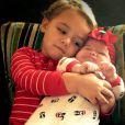 Caleb et sa petite soeur Dakota - photo publiée sur le compte Instagram de Bubba Watson le 24 décembre 2014