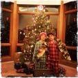 Sean Preston et Jayden James, les enfants de Britney Spears, le jeudi 25 décembre 2014.
