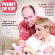 """"""" Albert et Charlene nous parlent de Jacques et Gabriella """" : un entretien exclusif du magazine  Point de Vue  (édition du 31 décembre 2014) à l'occasion de la naissance des jumeaux princiers à Monaco."""