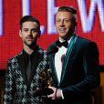 Macklemore et Ryan Lewis lors des Grammy Awards lors des 56e Grammy Awards au Staples Center de Los Angeles, le 26 janvier 2014