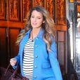 """""""Blake Lively, enceinte, sort de son hôtel à New York, le 4 décembre 2014."""""""