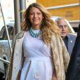 """"""" Blake Lively, enceinte et toujours aussi magnifique, se promène dans les rues de New York, le 8 novembre 2014. Elle se rend à une conférence organisée par Martha Stewart """""""