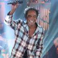 """EXCLUSIF - Yannick Noah lors de l'enregistrement de l'émission """"Les années bonheur"""" diffusée le 13 décembre 2014"""