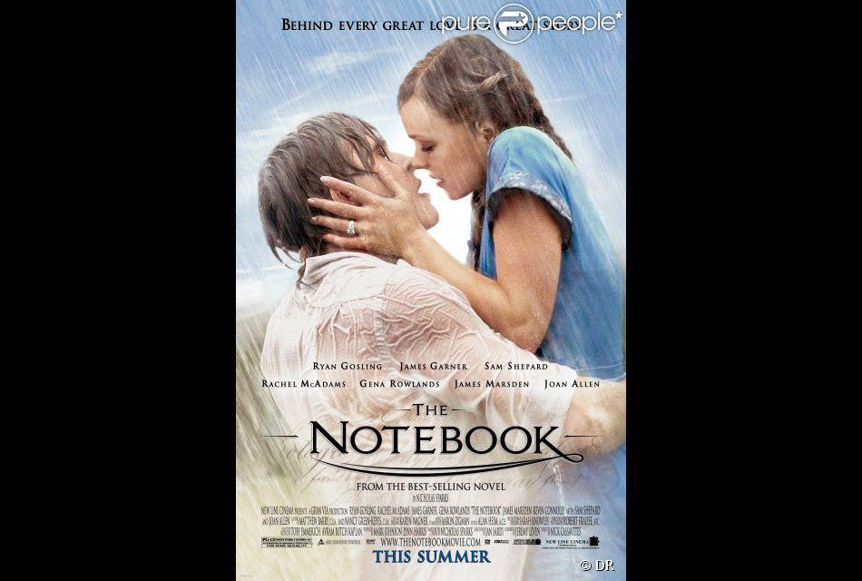 Affiche du film N'oublie jamais (The Notebook), adapté du roman de Nicholas Sparks, Les Pages de notre amour