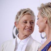 Ellen DeGeneres, pétillante amoureuse au bras de Portia de Rossi très sexy