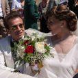 Exclusif : Mariage religieux de Philipe Manoeuvre et Candice de la Richardière à l'église St Ouen de Livarot dans le Calvados le 21 juin 2014
