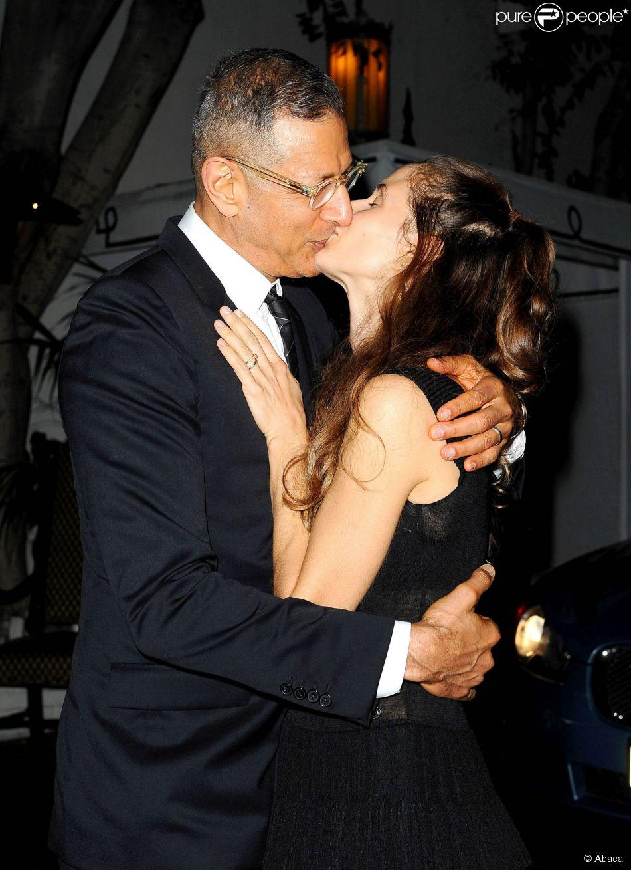 Jeff Goldblum et sa nouvelle épouse Emilie Livingston au Chateau Marmont à Los Angeles, le 4 décembre 2014.
