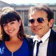 Manon Manoeuvre entre son père Philippe et l'épouse de celui-ci Candice - photo publiée sur son compte Instagram le 19 juin 2014