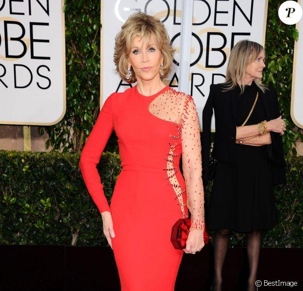 Jane Fonda à la La 72ème cérémonie annuelle des Golden Globe Awards à Beverly Hills, le 11 janvier 2015