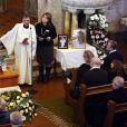 Le vicaire suédois Per Edler - Obsèques de Anita Ekberg en présence de sa famille et ses proches en l'église évangélique allemande à Rome, le 14 janvier 2015.