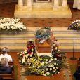 Obsèques de Anita Ekberg en présence de sa famille et ses proches en l'église évangélique allemande à Rome, le 14 janvier 2015.