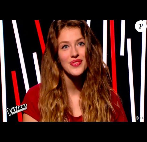 Manon Palmer dans The Voice 4, le samedi 17 janvier 2015, sur TF1