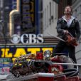 Ian Ziering sur le tournage de Sharknado 2 à New York, le 24 février 2014.