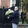 Des bouquets de fleurs arrivent au domicile de Kate Moss (son mari Jamie Hince et sa fille Lila Grace), à l'occasion de ses 41 ans. Londres, le 16 janvier 2015.