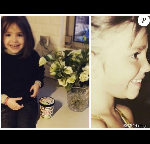Ava, la fille d'Alexandra Rosenfeld : sosie de sa maman lorsqu'elle était petite