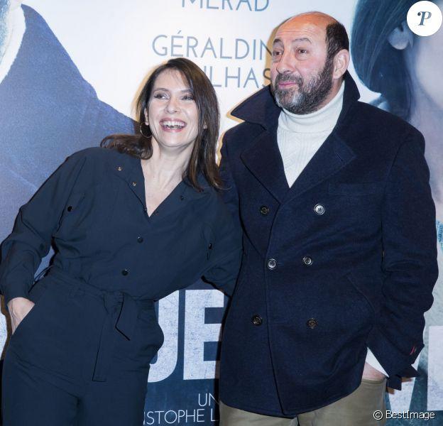 """Géraldine Pailhas et Kad Merad - Première """"Disparue en Hiver"""" à l'UGC Ciné Cité Bercy à Paris le 20 janvier 2015."""