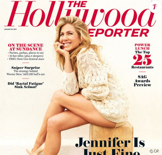 Jennifer Aniston en couverture du magazine The Hollywood Reporter - février 2015