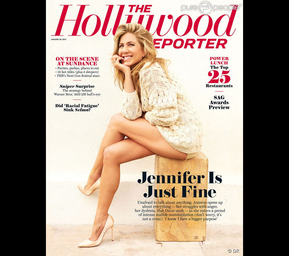 Jennifer Aniston en couverture du magazine The Hollywood Reporter - février 2015