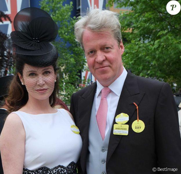 Charles Spencer, frère de Lady Diana, et sa femme Karen Gordon à Ascot en juin 2013