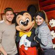 Rayane Bensetti et sa partenaire Denitsa Ikonomova ont passé une journée inoubliable au parc Disneyland à Marne-la-Vallée. Janvier 2015.