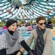 Rayane Bensetti et Denitsa Ikonomova ont passé une journée inoubliable à Disneyland à Marne-la-Vallée. Janvier 2015.