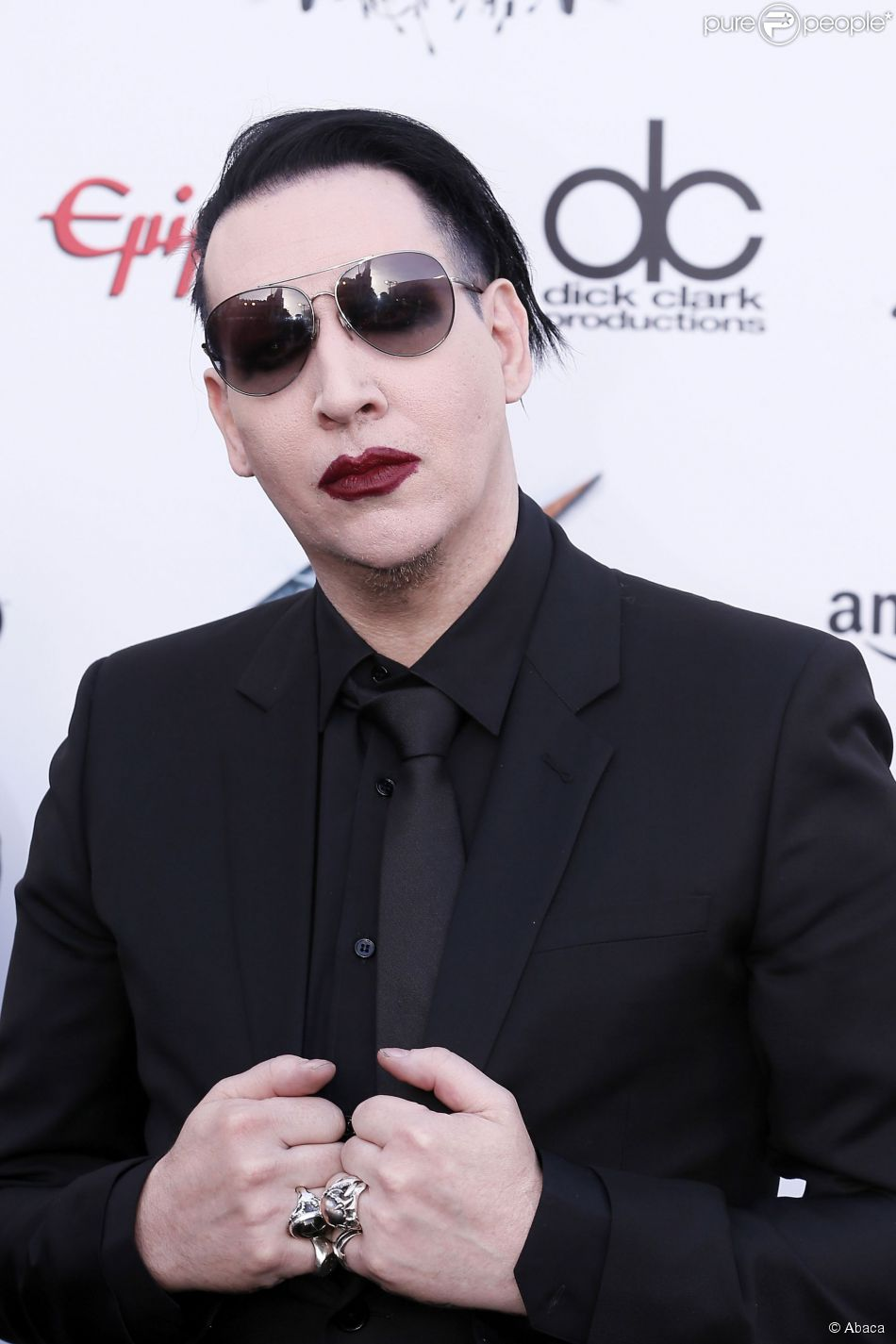 Marilyn Manson lors de l'Annual Revolver Golden Gods Award Show au Club Nokia de Los Angeles, le 23 avril 2014