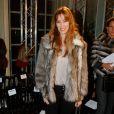 Mareva Galanter assiste au défilé Alexis Mabille haute couture printemps-été 2015 à la Fondation Mona Bismarck. Paris, le 26 janvier 2015.