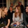 Emily Marant, Mareva Galanter et Mareva Georges assistent au défilé Alexis Mabille haute couture printemps-été 2015 à la Fondation Mona Bismarck. Paris, le 26 janvier 2015.