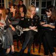 Emily Marant, Mareva Galanter, Mareva Georges, Lilou Fogli et Delphine McCarty assistent au défilé Alexis Mabille haute couture printemps-été 2015 à la Fondation Mona Bismarck. Paris, le 26 janvier 2015.