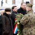 Le prince Guillaume, grand-duc héritier de Luxembourg, et la princesse Stéphanie se sont recueillis et ont déposé une gerbe  à Auschwitz-Birkenau le 27 janvier 2015 lors de la cérémonie pour les 70 ans de la libération du camp de concentration et d'extermination