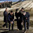 Auschwitz-Birkenau le 27 janvier 2015 lors de la cérémonie pour les 70 ans de la libération du camp de concentration et d'extermination