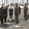 Guillaume et Stéphanie de Luxembourg  à Auschwitz-Birkenau le 27 janvier 2015 lors de la cérémonie pour les 70 ans de la libération du camp de concentration et d'extermination