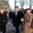 La princesse Mette-Marit de Norvège assiste à une messe commémorative à la mémoire de l'Holocauste à Oslo en Norvège le 27 janvier 2015.  The Crown Princess Mette Marit attends the International Holocaust Remembrance Day in Akershuskaia, Oslo, January 27, 2015.27/01/2015 - Oslo