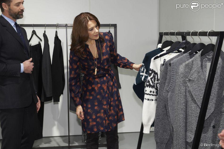 La princesse Mary de Danemark en visite à la fashion week de Copenhague, le 30 janvier 2015