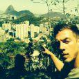 Micha à Rio pour le tournage des  Anges 7 . Janvier 2015.
