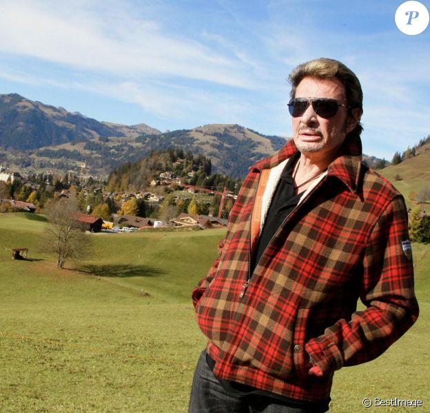 Exclu - Johnny Hallyday à Gstaad, le 27 octobre 2009.
