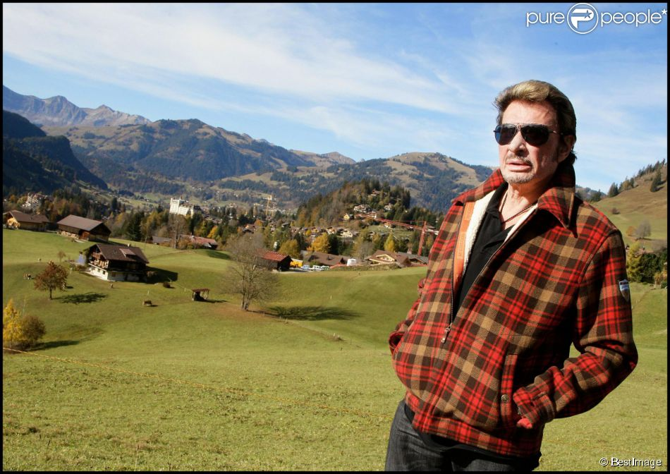 Exclu - Johnny Hallyday à Gstaad, le 27 octobre 2009.
