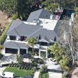 Vue aérienne de la villa de Johnny et Laeticia Hallyday à Pacific Palisades le 8 février 2014.
