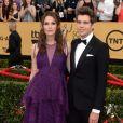 """Keira Knightley enceinte et son mari James Righton - 21e cérémonie annuelle des """"Screen Actors Guild Awards"""" à l'auditorium """"The Shrine"""" à Los Angeles, le 25 janvier 2015."""