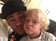 Neymar (FC Barcelone) et son fils Davi Lucca: Complices pour un foot à la maison