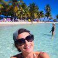 Eve Angeli aux Antilles le 21 janvier 2015.