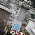 Obsèques de Roger Hanin au cimetière Saint-Eugène à Alger. Le 13 février 2015.