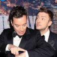 Jimmy Fallon et Justin Timberlake - Gala d'anniversaire des 40 ans de Saturday Night Live (SNL) à New York, le 15 février 2015.