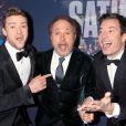 Justin Timberlake, Billy Crystal et Jimmy Fallon - Gala d'anniversaire des 40 ans de Saturday Night Live (SNL) à New York, le 15 février 2015.