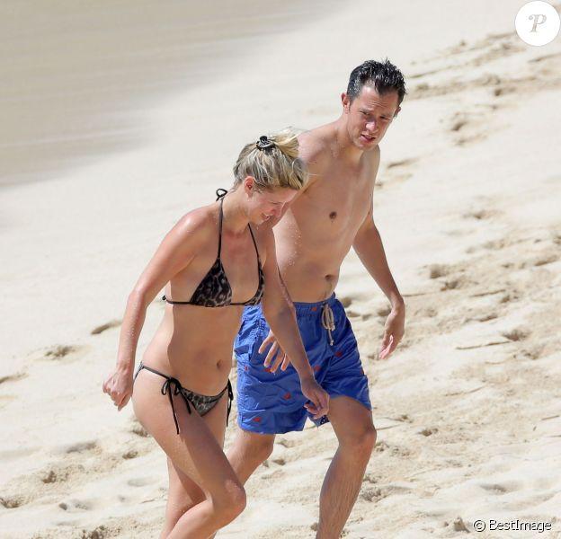 Exclusif - Nicky Hilton et son fiancé James Rothschild en vacances à Saint-Barthélemy pour le week-end de la Saint-Valentin, le 15 février 2015.