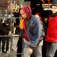 Kanye West quitte l'hôtel The Bowery à New York. Le 17 février 2015.