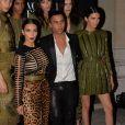 Kim Kardashian, Olivier Rousteing et Kendall Jenner au gala de la Vogue Paris Foundation à Paris, le 9 juillet 2014.